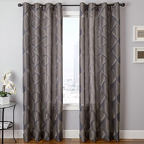 Marlene Grommet Top Window Curtain Panel Bed Bath Beyond