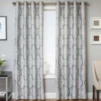 Trinidad 96-Inch Window Curtain Panel in Platinum