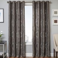 Trinidad 108-Inch Window Curtain Panel in Gunmetal