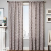 Celestia 84-Inch Window Curtain Panel in Light Grey