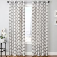 Taranto Grommet Top 84-Inch Window Curtain Panel in Chocolate