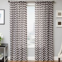 Frazzle 84-Inch Window Curtain Panel in Chocolate