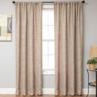 Selma Rod Pocket 108-Inch Window Curtain Panel in Wheat