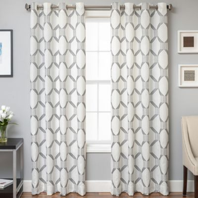 beverly 96inch window curtain panel in pewter