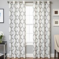 Beverly 84-Inch Window Curtain Panel in Pewter