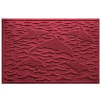 Weather Guard™ 23-Inch x 35-Inch Porpoise Mat in Dark Red