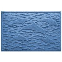 Weather Guard™ 23-Inch x 35-Inch Porpoise Mat in Medium Blue
