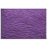 Weather Guard™ 23-Inch x 35-Inch Porpoise Mat in Purple