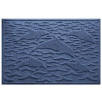 Weather Guard™ 23-Inch x 35-Inch Porpoise Mat in Navy