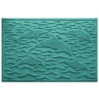 Weather Guard™ 23-Inch x 35-Inch Porpoise Mat in Aqua