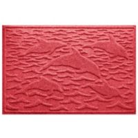 Weather Guard™ 23-Inch x 35-Inch Porpoise Mat in Red