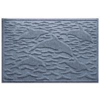 Weather Guard™ 23-Inch x 35-Inch Porpoise Mat in Blue