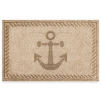 Weather Guard™ 23-Inch x 35-Inch Anchor Mat in Beige