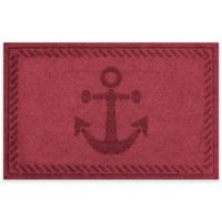 Weather Guard™ 23-Inch x 35-Inch Anchor Mat in Dark Red