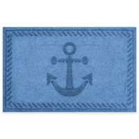 Weather Guard™ 23-Inch x 35-Inch Anchor Mat in Medium Blue