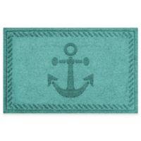 Weather Guard™ 23-Inch x 35-Inch Anchor Mat in Aqua