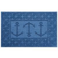 Weather Guard™ 23-Inch x 35-Inch Ahoy! Mat in Medium Blue