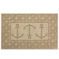 Weather Guard™ 23-Inch x 35-Inch Ahoy! Mat in Beige