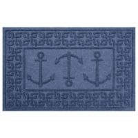 Weather Guard™ 23-Inch x 35-Inch Ahoy! Mat in Navy