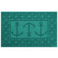 Weather Guard™ 23-Inch x 35-Inch Ahoy! Mat in Aqua