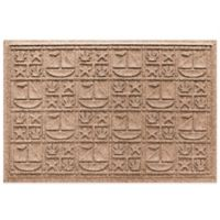Weather Guard™ 23-Inch x 35-Inch Nautical Mat in Brown