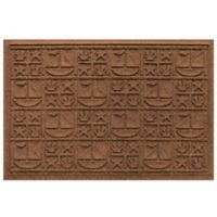 Weather Guard™ 23-Inch x 35-Inch Nautical Mat in Dark Brown