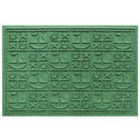 Weather Guard™ 23-Inch x 35-Inch Nautical Mat in Light Green