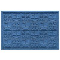 Weather Guard™ 23-Inch x 35-Inch Nautical Mat in Medium Blue
