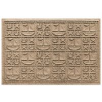 Weather Guard™ 23-Inch x 35-Inch Nautical Mat in Beige