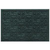 Weather Guard™ 23-Inch x 35-Inch Nautical Mat in Green