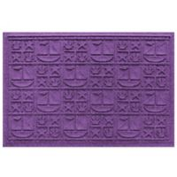 Weather Guard™ 23-Inch x 35-Inch Nautical Mat in Purple