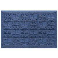Weather Guard™ 23-Inch x 35-Inch Nautical Mat in Navy