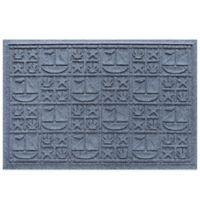 Weather Guard™ 23-Inch x 35-Inch Nautical Mat in Blue