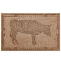 Weather Guard™ 23-Inch x 35-Inch Cow BBQ Mat in Brown
