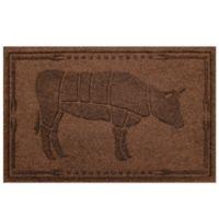 Weather Guard™23-Inch x 35-Inch Cow BBQ Mat in Dark Brown