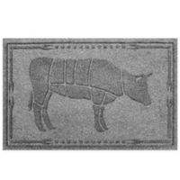 Weather Guard™ 23-Inch x 35-Inch Cow BBQ Mat in Grey