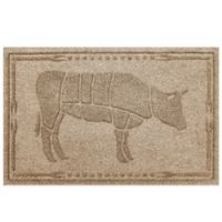 Weather Guard™ 23-Inch x 35-Inch Cow BBQ Mat in Beige