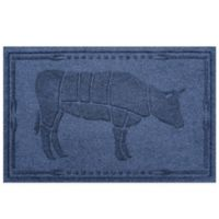 Weather Guard™ 23-Inch x 35-Inch Cow BBQ Mat in Navy