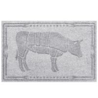 Weather Guard™ 23-Inch x 35-Inch Cow BBQ Mat in White
