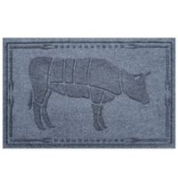 Weather Guard™23-Inch x 35-Inch Cow BBQ Mat in Blue