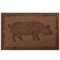 Weather Guard™ 23-Inch x 35-Inch Hog BBQ Mat in Dark Brown
