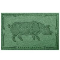 Weather Guard™23-Inch x 35-Inch Hog BBQ Mat in Light Green