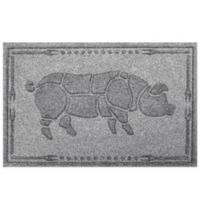 Weather Guard™ 23-Inch x 35-Inch Hog BBQ Mat in Grey