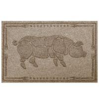 Weather Guard™ 23-Inch x 35-Inch Hog BBQ Mat in Beige