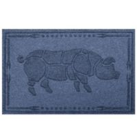 Weather Guard™ 23-Inch x 35-Inch Hog BBQ Mat in Navy