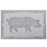 Weather Guard™ 23-Inch x 35-Inch Hog BBQ Mat in White