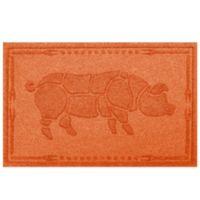Weather Guard™ 23-Inch x 35-Inch Hog BBQ Mat in Orange