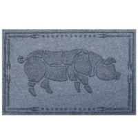 Weather Guard™ 23-Inch x 35-Inch Hog BBQ Mat in Blue