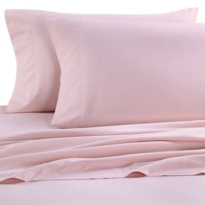 nine space natural living linen california king sheet set in pink - Cal King Sheets