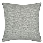 Flatiron Home Cable Knit Square Throw Pillow in Light Grey